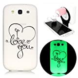 [Anti-Scratch Series] TPU Bumper avec Soft TPU Shell Back Case for Samsung Galaxy S3 I9300 Coque?Vandot TPU Silicone Housse pour Samsung Galaxy S3 I9300 Coque Étui Case Cover + Plastique de Pliable Suspension Charging Stand Support - I Love you
