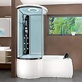 AcquaVapore DTP8055-A003R Whirlpool Wanne Duschtempel Dusche Duschkabine 98x170, EasyClean Versiegelung der Scheiben:2K Scheiben Versiegelung +79.-EUR