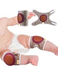 Baby Krabbeln Knieschoner, Kleinkind Anti-Rutsch Ellenbogenschoner Doppelter Zweck Sicherheit Schutz 2 Stück
