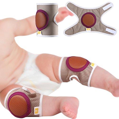 Baby Crawling Knee Pads, Toddler Anti-Slip Elbow Pads, Dual Purpose Safety Protection 2 Pcs