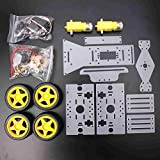 Bluelover Moteur De Direction De Bricolage 4 Roues 2 Moteur Smart Robot Car Chassis Kit Pour Arduino