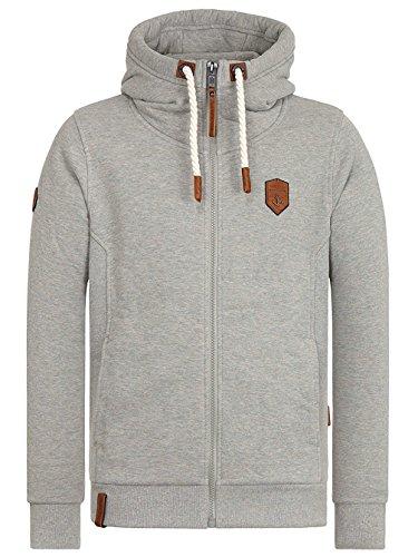Naketano Male Zipped Jacket Birol gun smoke grey melange
