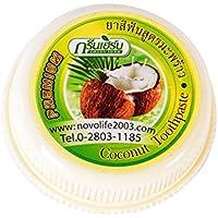 LUFA Tailandia coco pasta de dientes verde de la hierba del clavo Blanqueamiento de limpieza Rmove Cálculo Cmoke manchas en los dientes en polvo