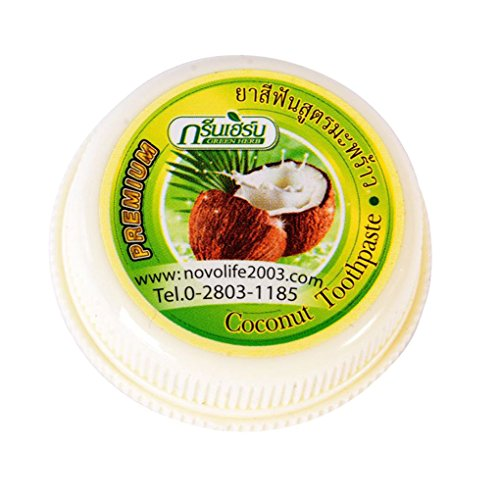 Meisijia Thailand Coconut Zahnpasta Grün Kräuter Clove Whitening Reinigung Rmove Calculus Cmoke Stains Zahnpulver -