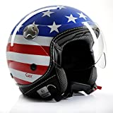 Motorradhelm Jethelm Chopperhelm Cafe Racer CMX Stars and Stripes USA-Flag L