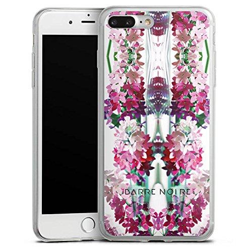 Apple iPhone X Slim Case Silikon Hülle Schutzhülle Blumen Muster Flower Silikon Slim Case transparent