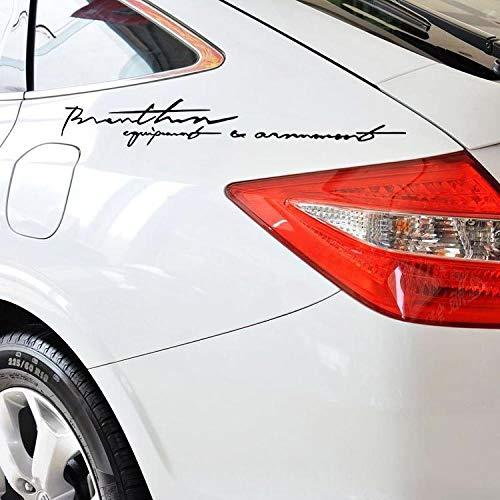 tonywu Creative Personality Car Sticker Englischer Unterschriftenaufkleber Seitlich Ziehen Blumenkörper Aufkleber 29X5.5CM Eine 2PCS