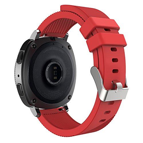 Galleria fotografica MoKo Sport / Gear S2 Classic Cinturino di Ricambio, Braccialetto 20mm in Silicone Morbido per Samsung Gear Sport SM-R600 / Gear S2 Classic Smartwatch - Rosso