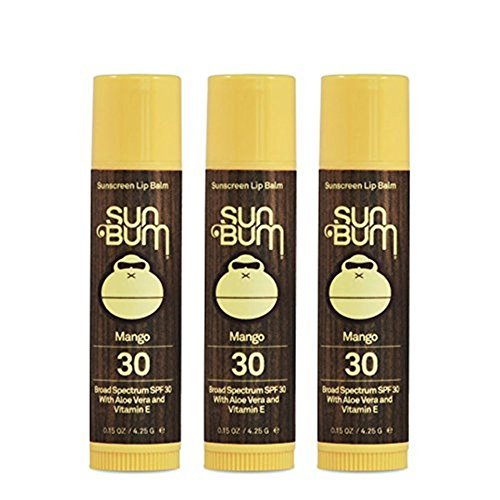 Sun Bum SPF 30 Lip Balm Mango 3 Pack