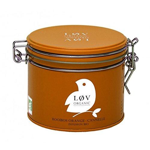 KUSMI Tea / Løv ORGANIC - Orange-Cinnamon Rooibos Bio-Kräuter-Tee - 100gr Dose