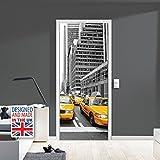 Walplus wd10040 York para Puerta Mural, Vinilo,, 103x 5,4x 5,4cm