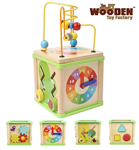 The Wooden Toy Factory - Cubo de Actividades 5 en 1 -...