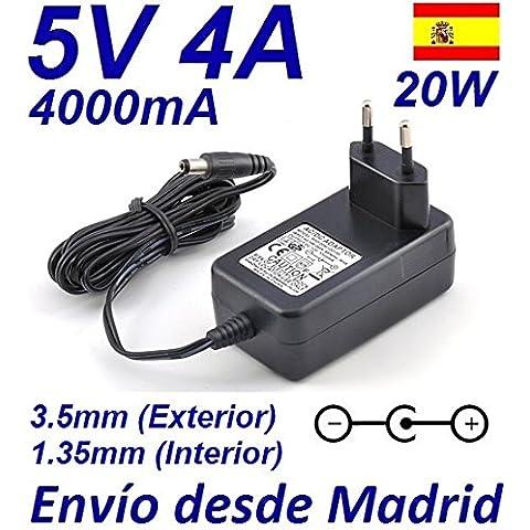 Cargador Corriente 5V 4A 4000mA 3.5mm 1.35mm 20W Wall Plug