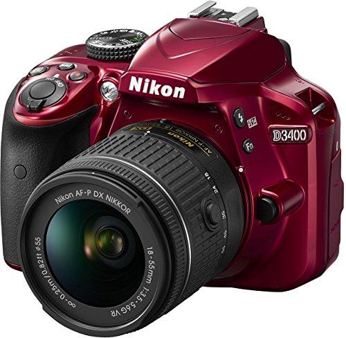 Nikon D3400 Gehäuse inkl. AF-P DX NIKKOR 18-55 mm VR rot