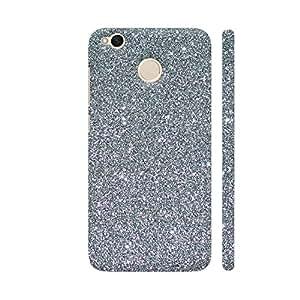 Colorpur Xiaomi Redmi 4 Cover - Silver Glitter Style Printed Back Case