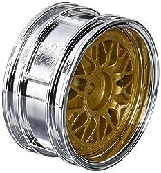 Tamiya 300050548Rims Porsche Taisan, 26mm (2), Chrome/Gold