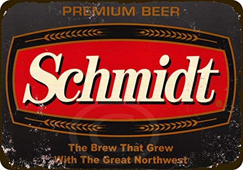 qidushop Schmidt Premium Bier Vintage Reproduktion Retro Metall Wanddeko Kunst Shop Man Cave Bar Garage Aluminium 20 x 30 cm Schild -
