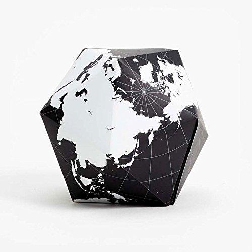 DYMAXION - Faltbarer Globus / Farbe: Schwarz
