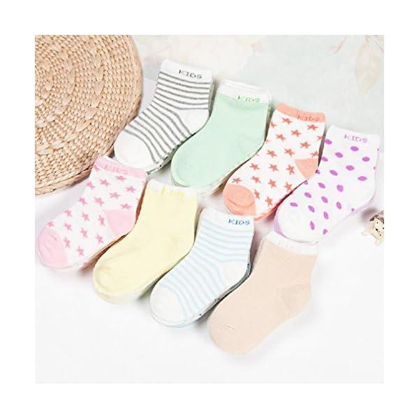 DEBAIJIA Calcetines de Algodón para Bebé 0-7 Años Suaves Cómodos Niños Niñas Calcetines Respirable Primavera Verano… 7