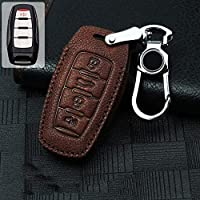 Key Case for Car - Hot sale Genuine Leather Car Key Case Full Cover For Great Wall Haval/Hover H1 H2 H5 H6 H6 Coupe H7 H8 H9 C50 F5 F7 H2S Hoist (B-brown)