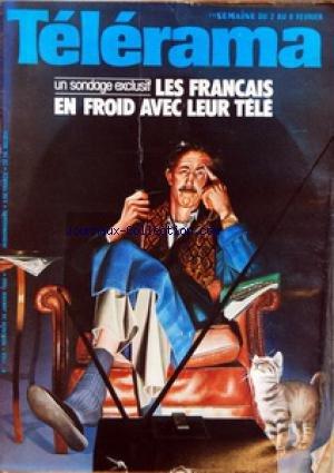 TELERAMA [No 1568] du 30/01/1980 - UN SONDAGE EXCLUSIF - LES FRANCAIS EN FROID AVEC LEUR TELE PAR MARC LECARPENTIER - MUSIQUE EN TETE DISQUES CLASSIQUES CHANSONS TRADITIONS POP ET JAZZ - LE TRIOMPHE DU PAYSAN DU DANUBE - CA VA MIEUX EN LE DISANT - DEUX OU TROIS CHOSES - TELERAMA A CHOISI POUR VOUS - TELEVISION LES FRANCAIS EN FROID AVEC LEUR TELEVISION - PIERRE DESGRAUPES JE N'AI PAS ENVIE DE M+¡ACHETER UN BERET BASQUE - BONJOUR MONSIEUR GUSTAVE - DU PREMIER MATCH DE RUGBY IL N'Y A PLUS DE SURV