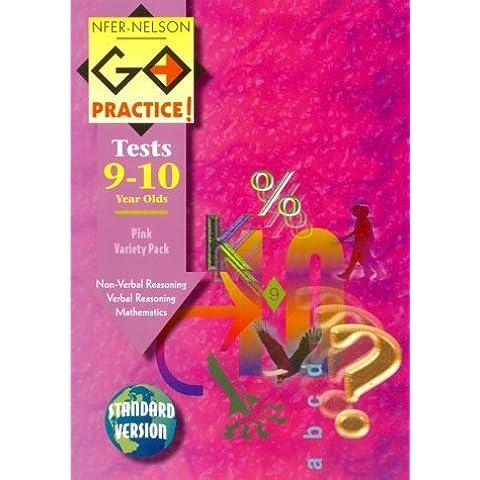 NFER 11 Pink Variety Pack: Verbal Reasoning, Non-verbal Reasoning, Mathematics (Standard Version) (Go Practice Tests) by Michael Troyan (1-Jan-1990) Paperback