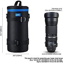 PROfoto.Trend/JJC 124 x 310mm Resistente al Agua Deluxe Funda para Objetivo con Correa [Ver Descripción para Compatibilidad Objetivo]