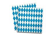 20 Servietten Bayern / Oktoberfest - 3-lagig - von DH-Konzept // Papierservietten Party Geburtstag Bavaria Blau Weiss Napkins