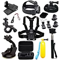 EDOSE Accessories Kit for AKASO EK5000 EK7000 4K WiFi Action Camera Gopro Hero 8 7 6 5/Session 5/Hero 4/3+/3/2/1 Crosstour/ Victure/ Campark Action Cameras