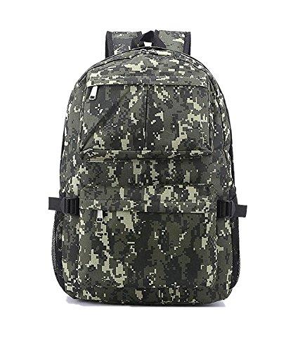 Lounayy Camouflage Rucksack Schulrucksack Rucksack Universität Schultasche Daypacks Backpack Für Jungen Teenager Herren (Color : Camouflage Grau)