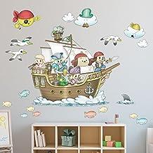 Vinilo de tela barco pirata Serie Randy (110 cm x 80 cm)