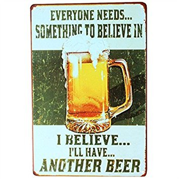 Vintage Retro KTV Pub Bar Beer Wine Drinking Advertising Metal Tin Sign