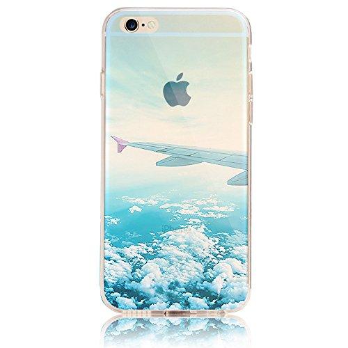 iPhone 6S Case (4.7) , iPhone 6 Custodia,Ultra Slim Thin Crystal TPU Paesaggio Morbido Bumper Case + Stylus Screen Touch Pen – Gully model 2