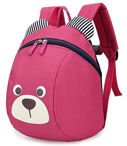 Imagen de  infantil niña guarderia arnés anti pérdida correa extraíble bebe niña barata bolso rosa 1 3año