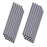 MCTECH 30 Stück Universal Befestigungsclips Klemmschienen für PVC Sichtschutzstreifen Grau