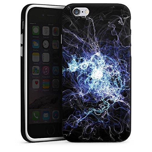 Apple iPhone X Silikon Hülle Case Schutzhülle Elektrizität Blitz Strom Silikon Case schwarz / weiß