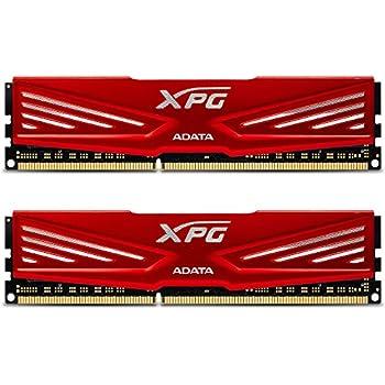 XPG by ADATA V1 DDR3 1866MHz (PC3 14900) 8GB (4GBx2) Memory Modules, Red (AX3U1866W4G10-DR)