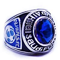 Silver plated ring 925 caliber Al Hilal club logo size 5
