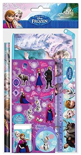 Blister 5 piezas papeleria con portatodo de Frozen