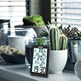ORIA Digital Thermometer Hygrometer, Indoor Temperature and Humidity Monitor with Large LCD Backlight, Min/Max Records, Trend of Temperature Change, for Home, Warehouse, Office, Cars, Wine Cellar