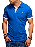 JACK & JONES Herren Poloshirt Polohemd Kurzarmshirt (S, Classic Blue/White)