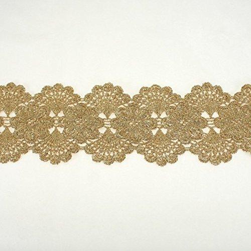 70 mm, colore: oro con bordi smerlati,