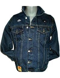 Aztec Mens Denim Jacket Stonewash Sizes S M L XL 2XL 3XL 4XL 5XL