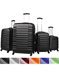 Vojagor Set of 4 Hard Shell Trolley Suitcases Travel Luggage DIFFERENT COLOURS