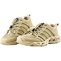 FREE SOLDIER Hombre Watershoe Upstream Ultra Ligero Transpirable de Secado Rápido Tactical Camping Senderismo Zapatos, Sand Color, 42