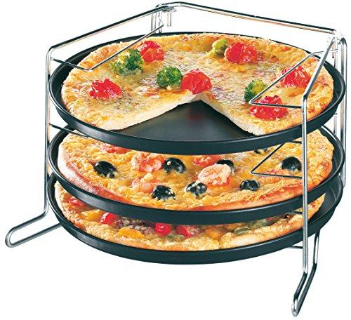 Zenker Pizzaset 3 Pizzableche mit Gestell - 2