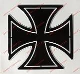 Stemma logo decal HARLEY DAVIDSON, CROCE DI MALTA, adesivo resinato, effetto 3D. Per SERBATOIO o CASCO