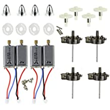 Coolplay® Spare Parts for Syma X8 X8C X8W Venture RC Quadcopter Motors & Main Gears & Spindle Sleeves Set & Main Stand & Blades Cover