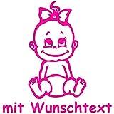 XL Babyaufkleber mit Name/Wunschtext - Motiv 2 (25 cm)