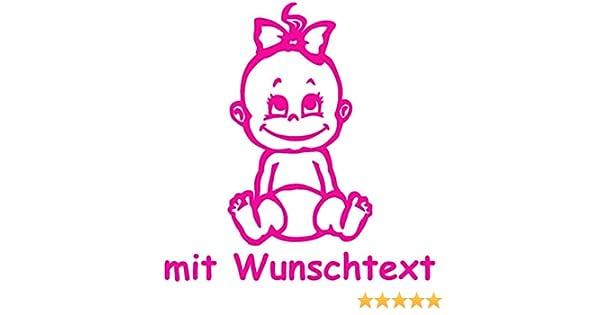 Motiv 702 XL Babyaufkleber mit Name//Wunschtext 25 cm